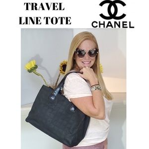 CHANEL Travel Line Tote with Authenticity Card